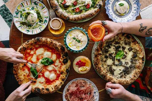 Blistered Pizzas and Burrata at Gloria Trattoria