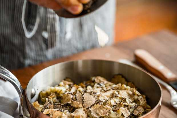 A Pan of Truffle Pasta at Gloria Restaurant, Shoreditch