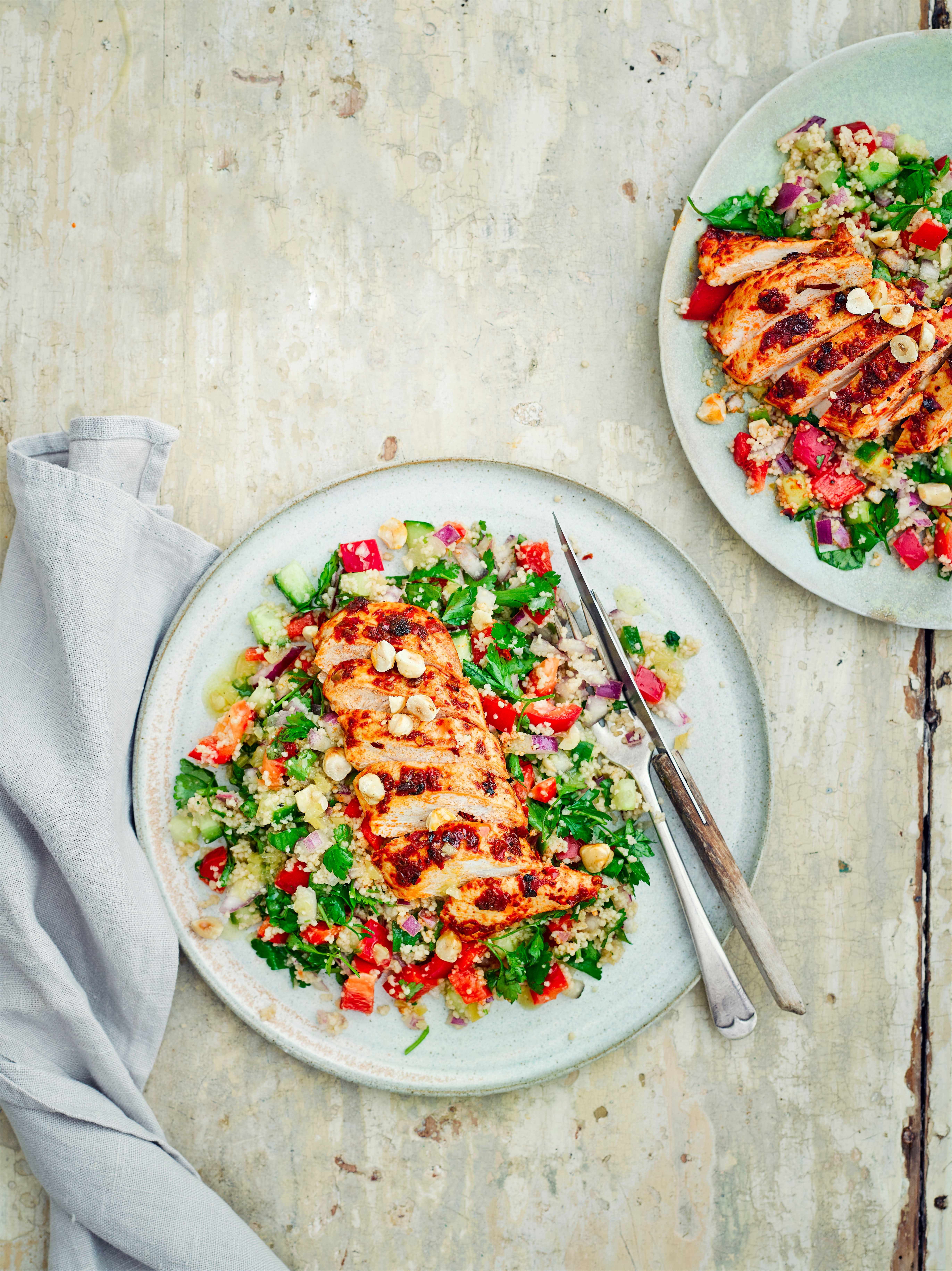 Harissa Chicken Recipe with Couscous Salad