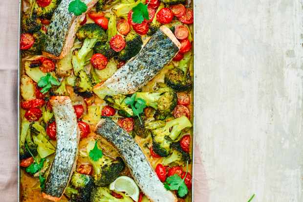 Salmon Tray Bake Recipe