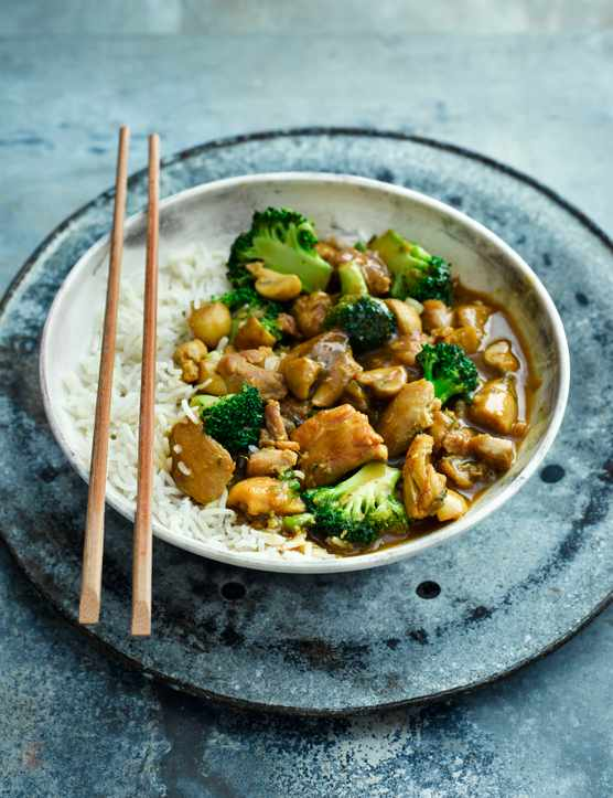 Japanese Chicken Curry Recipe with Broccoli and Mushrooms