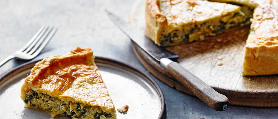 Spinach and Cheese Pie Recipe with Artichoke