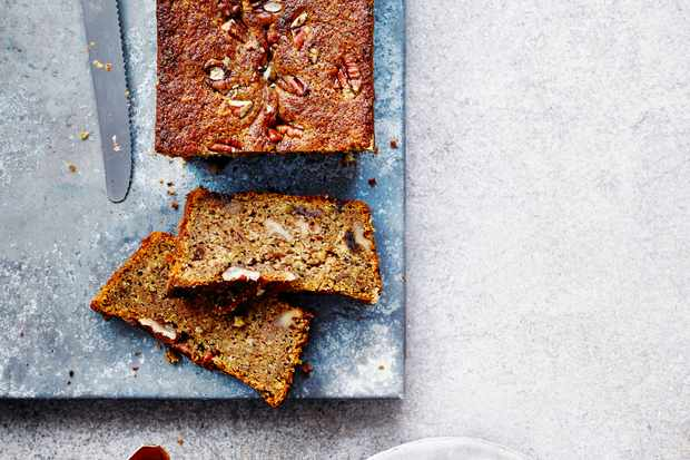 Date and Pecan Loaf Recipe with Pomegranate Molasses