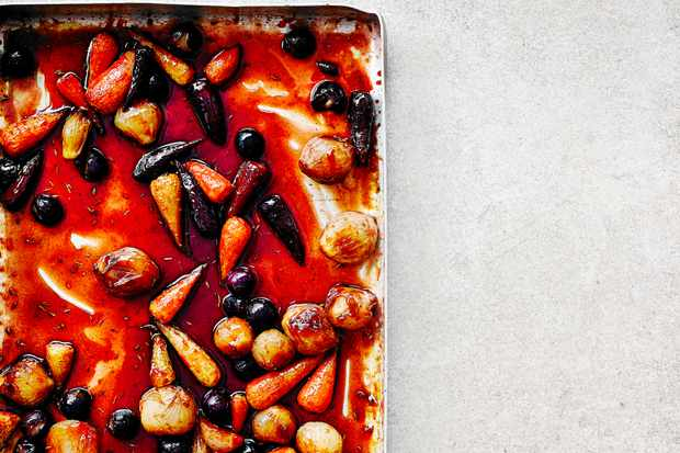 Roasted Vegetables Recipe with Pomegranate