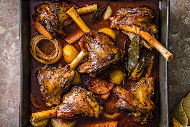 Slow-Roasted Lamb Recipe with Wild Oregano