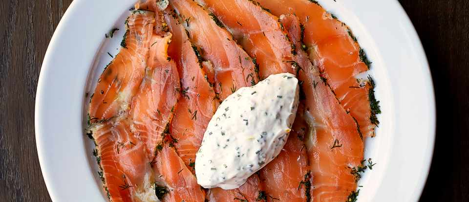 Cured Salmon Recipe with Herb Fromage Blanc