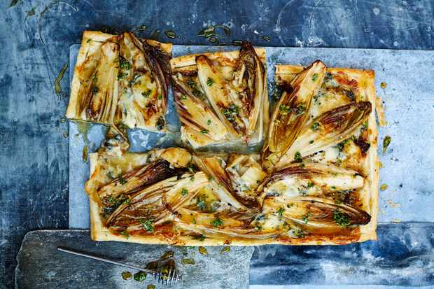 Chicory and Dolcelatte Tart Recipe