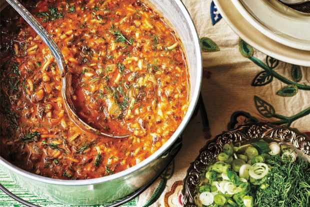 Aash Persian Soup Recipe with Lentils