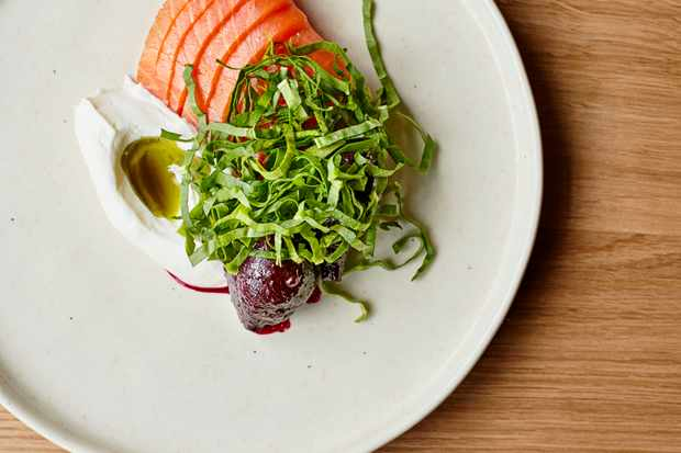 Smoked Salmon Starter Recipe with Beetroot