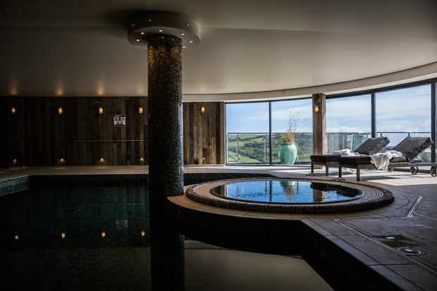Indoor Pool with Jacuzzi at Gara Rock Hotel, Devon
