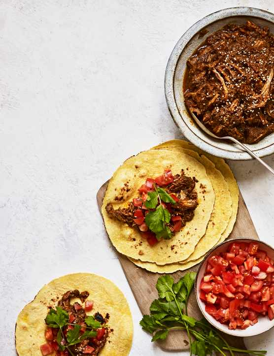 Pork Mole Recipe with Chipotle and Coffee