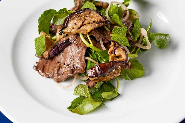 Ox Heart Recipe with Jerk and Aubergine