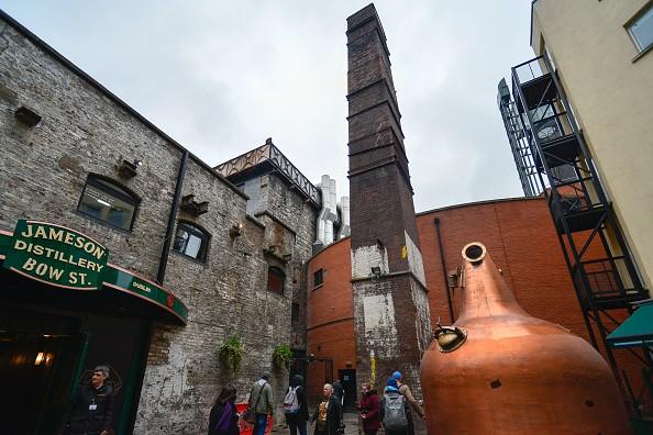 The exterior of Jameson Distillery