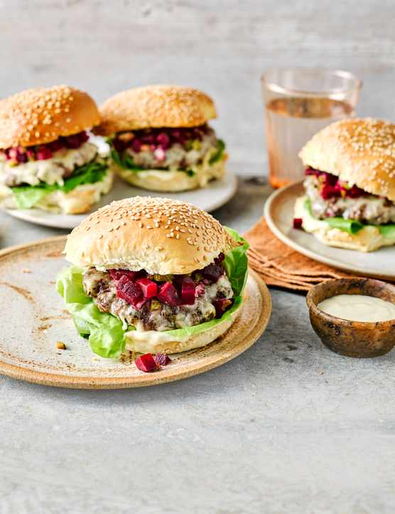 Beetroot Burger Recipe with Horseradish