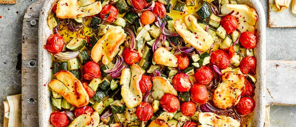 Roasted Vegetables with Halloumi Recipe