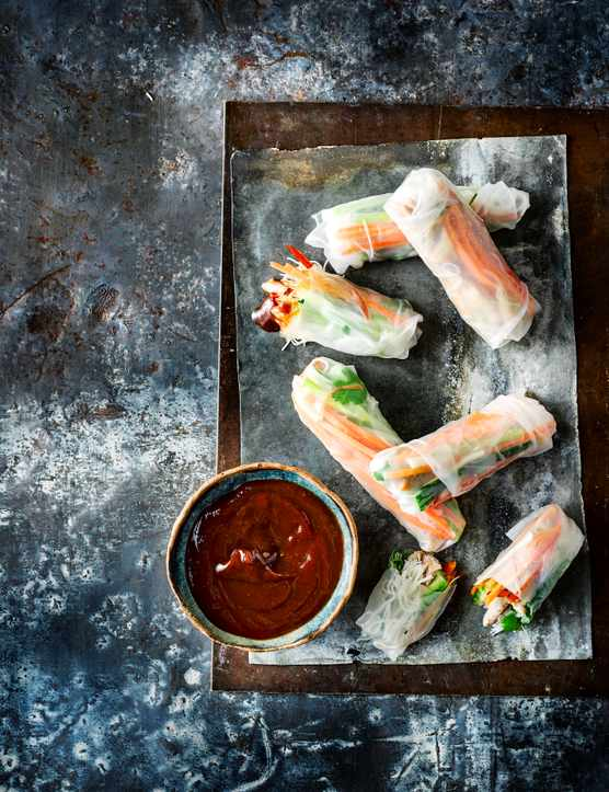 Vietnamese Summer Rolls Recipe with Chicken