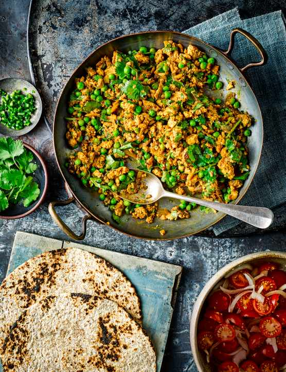 Turkey Kheema Matar Recipe with Turkey