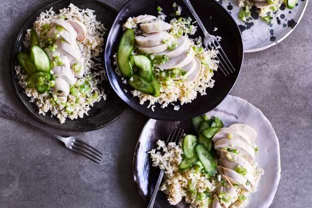 Poached Chicken Recipe with Spring Onion and Ginger Sauce