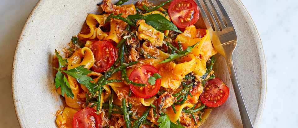 Arrabbiata Pasta Recipe with Crab