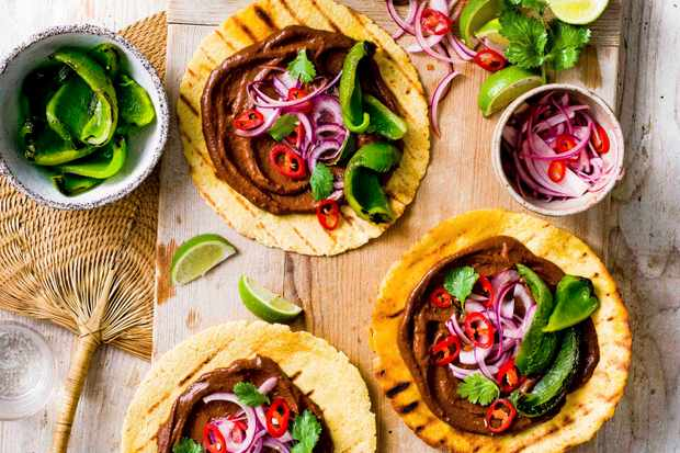 Vegan Tacos Recipe with Mole Sauce