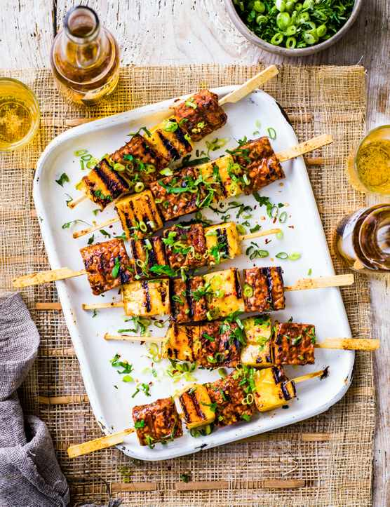 Pineapple Kebab Recipe with Tempeh