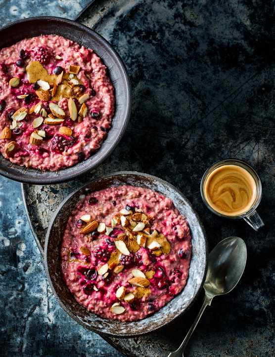 Berry Porridge Recipe with Nut Butter