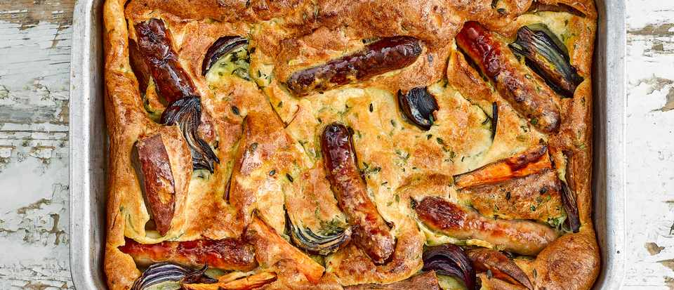 Toad in The Hole Recipe with Sweet Potatoes