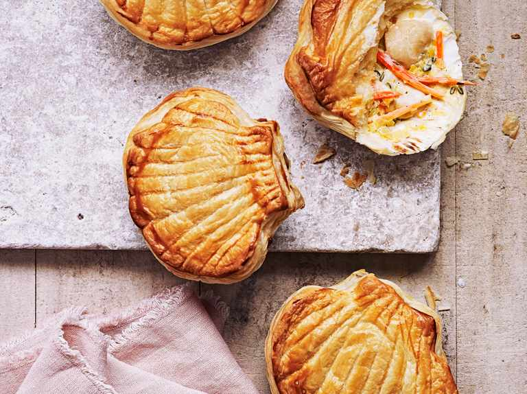 Scallop shell pies