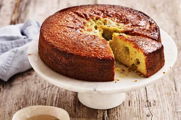 Gooseberry and Almond Cake Recipe with Elderflower Drizzle