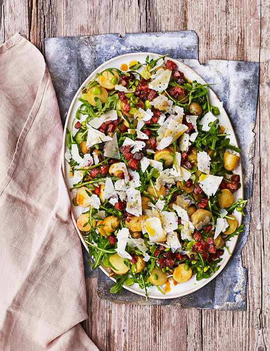 Broad Bean and Chorizo Salad Recipe with New Potatoes