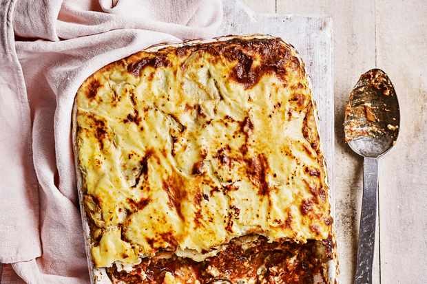 Vegetarian Aubergine Moussaka Recipe