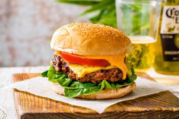 Vegan Mushroom Burger Recipe with Kimchi Mayo