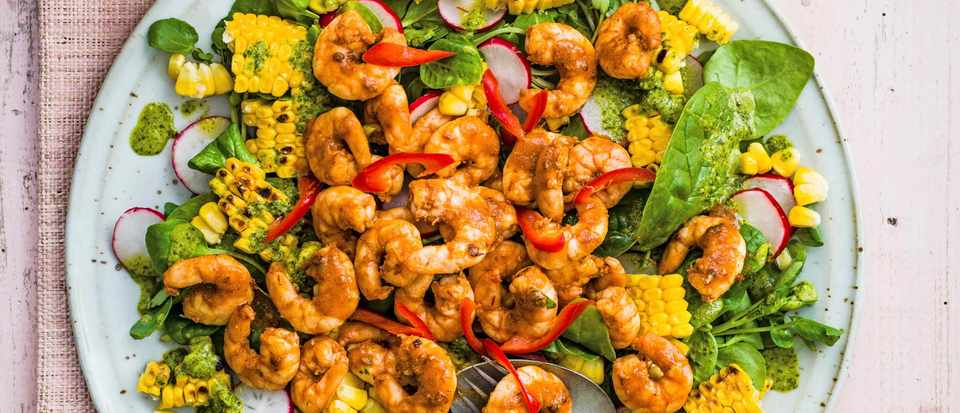 Mexican Shrimp Salad Recipe With Blackened Corn