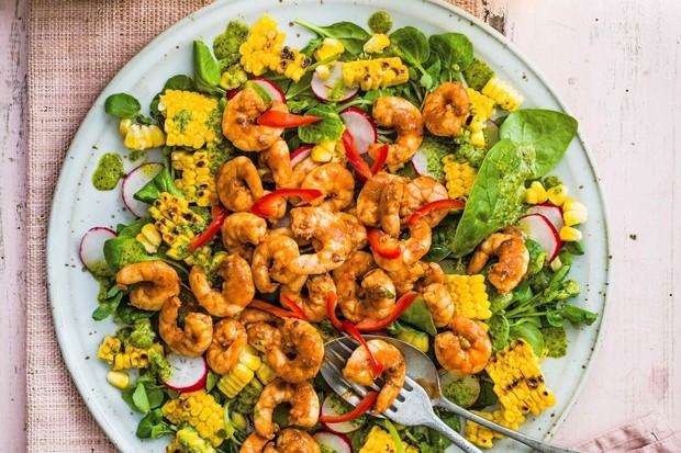 Mexican Shrimp Salad Recipe With Blackened Corn
