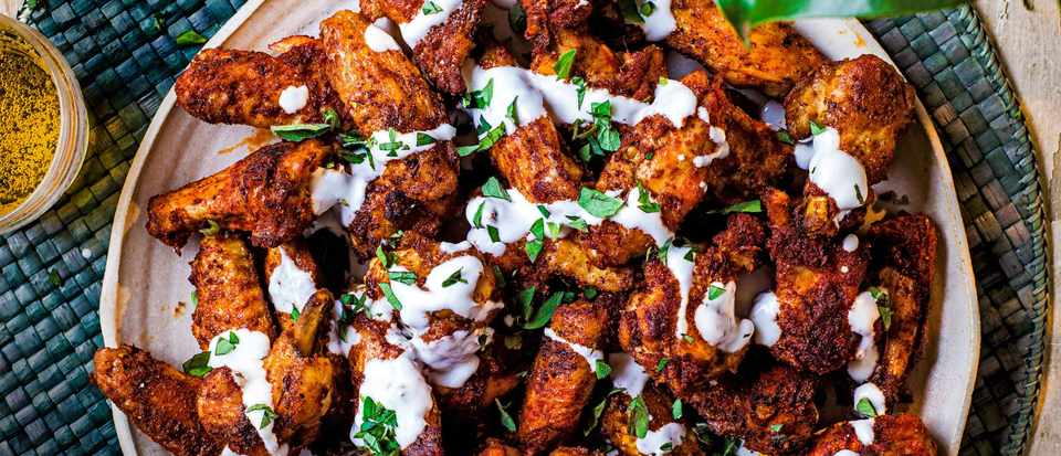 Chilli Chicken Wings Recipe with Yogurt