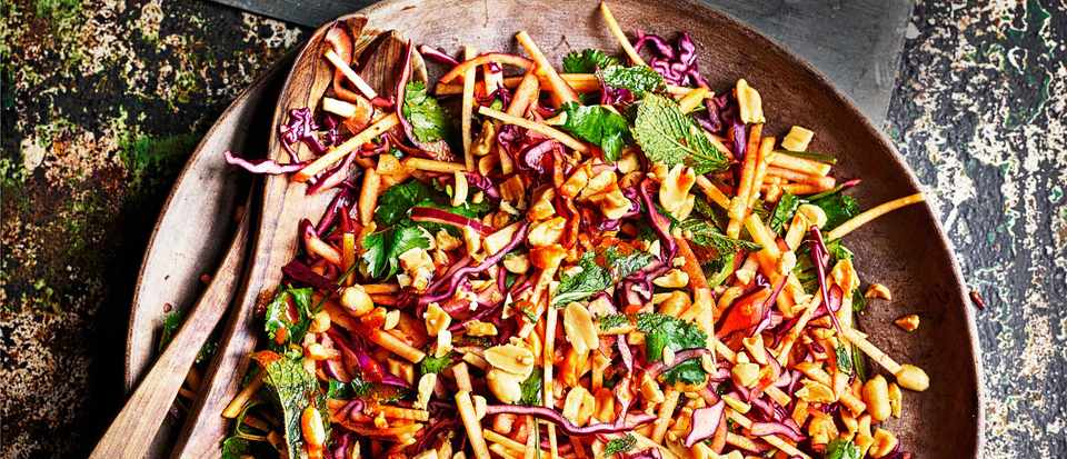 Korean Salad Recipe With Apples, Cabbage and Turnips