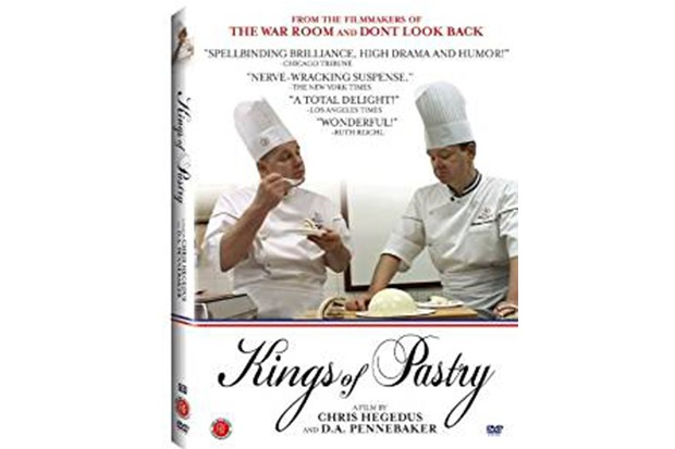 A DVD cover with two men on the front wearing chefs whites