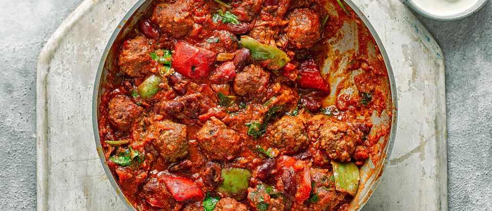 Chilli Con Carne Recipe With Meatballs