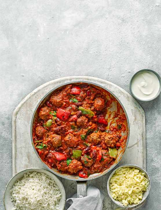 Chilli Con Carne Recipe With Meatballs