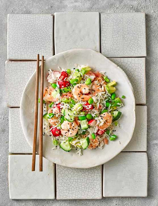 Quick Japanese Rice Salad