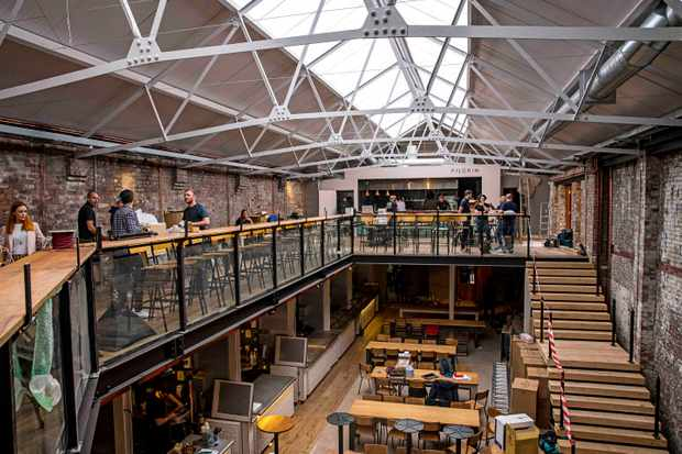 Pilgrim Liverpool Interiors open warehouse space with mezzanine