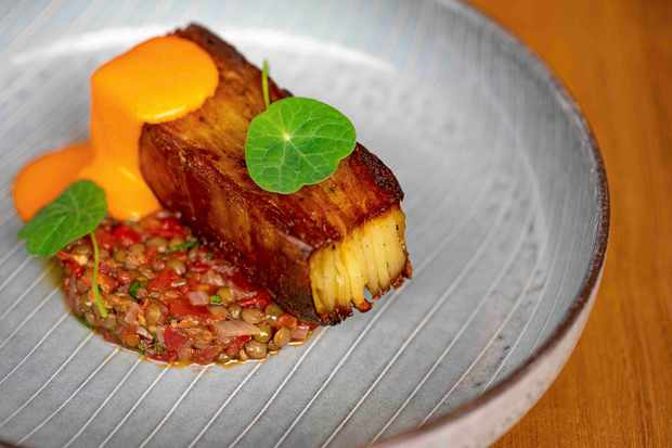 Pilgrim Restaurant Recipe For Potato Terrina With Lentils