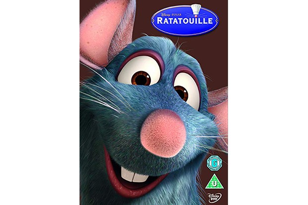 A DVD cover with a computer animated image of a rat