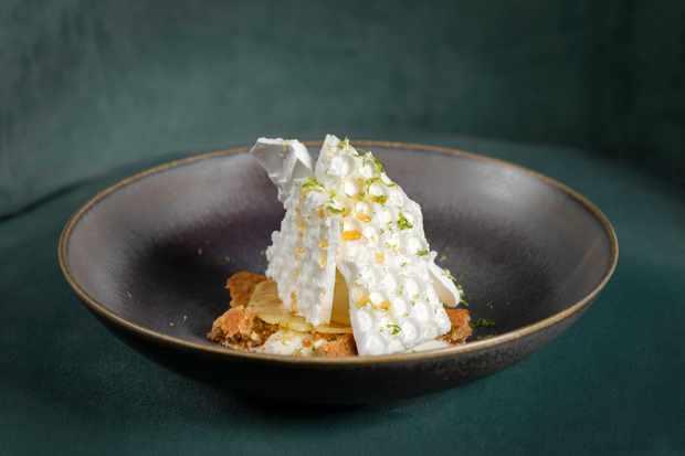 a plate of meringue