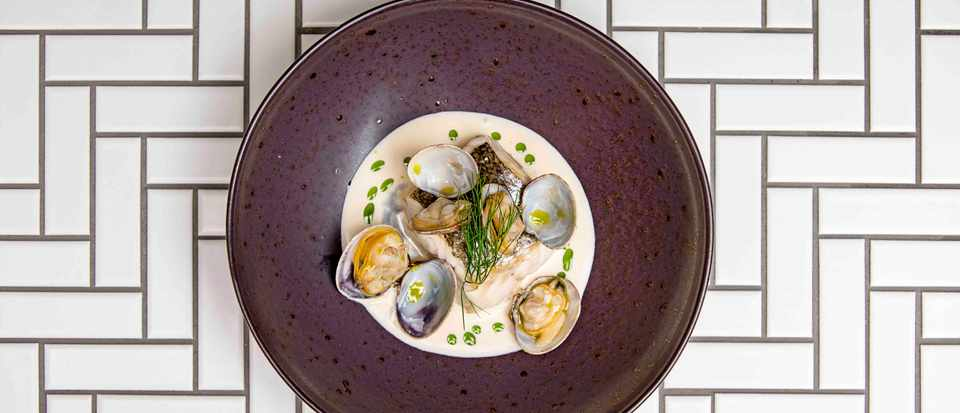 Roast Hake Recipe With Clams and Dill Oil Pilgrim My Million Pound Menu