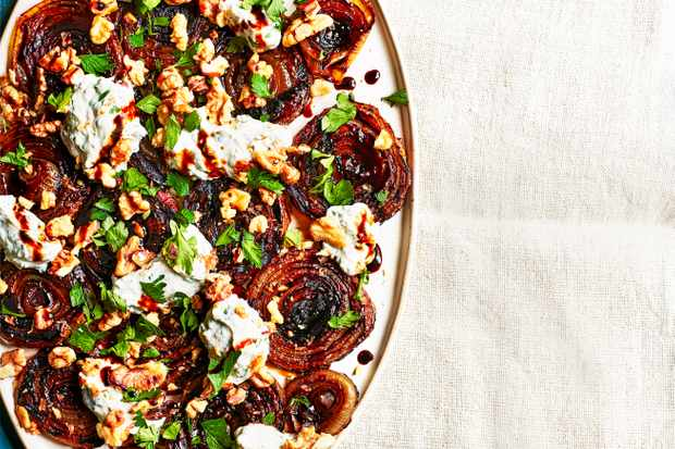 Balsamic Onions Recipe For an Easy Side Dish with Ricotta and Walnuts