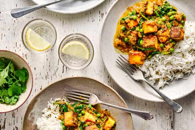 Healthy Paneer Curry Recipe with Peas