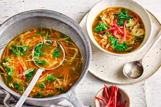 Vegan Miso Soup with Veggies Recipe