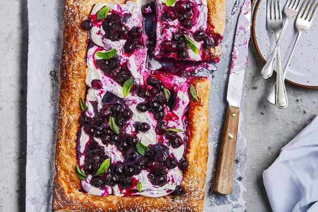 Blueberry Mascarpone Tart Recipe