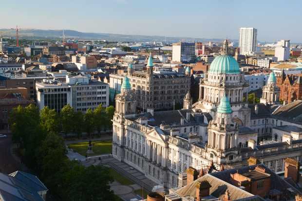 Roof top views over Belfast city